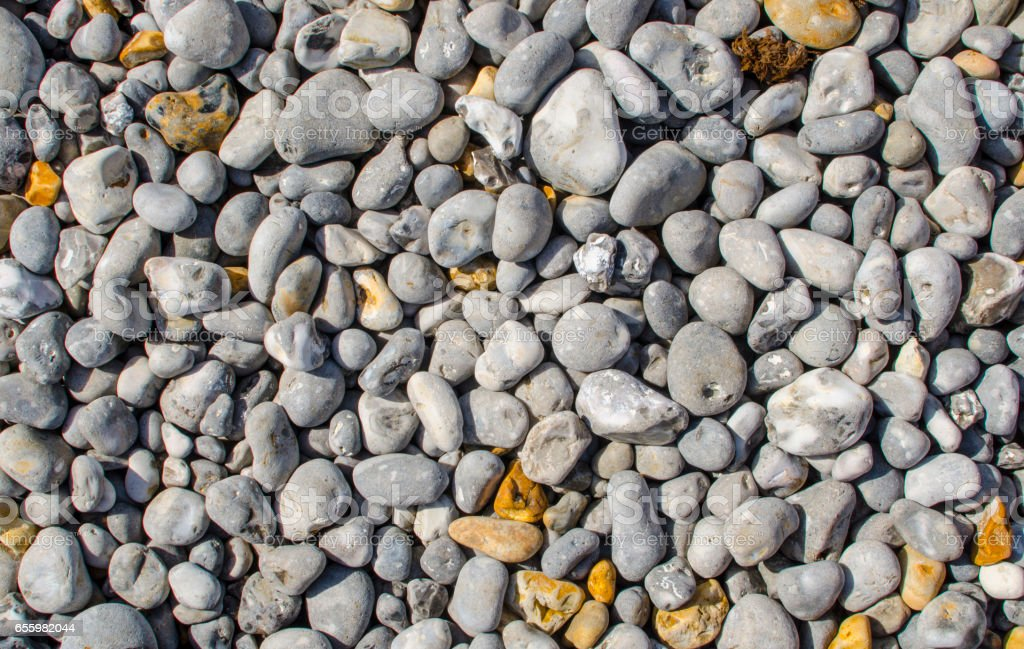 Gravel and grit stone background with copy space stock photo
