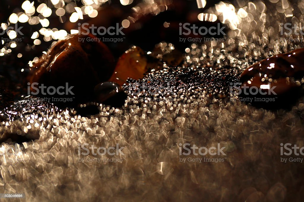 Gravel and water stock photo