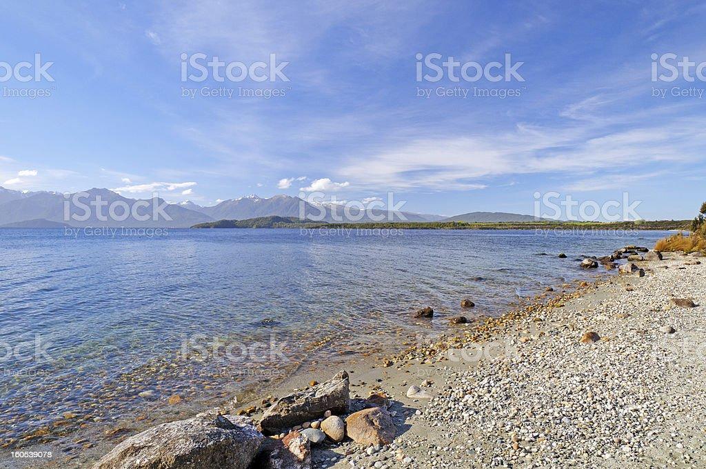 Gravel Beach on a Coastal Lake royalty-free stock photo