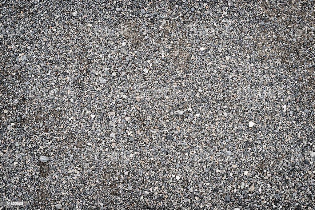 gravel ground full frame background stock photo
