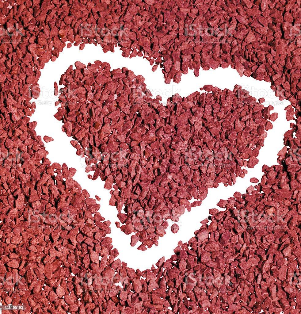 gravel heart shape royalty-free stock photo