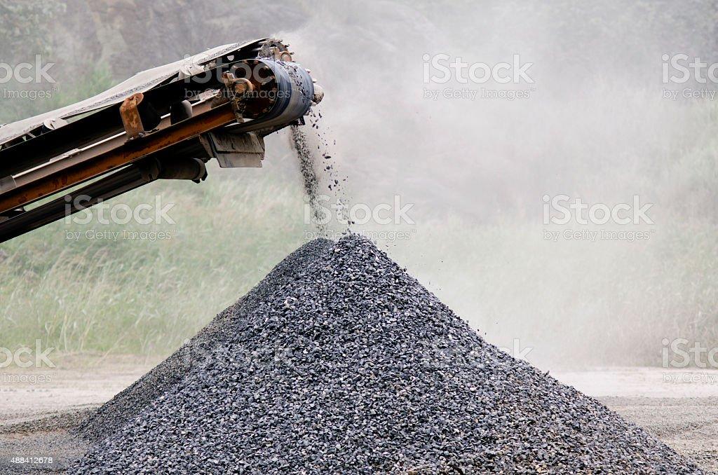 Gravel machine stock photo