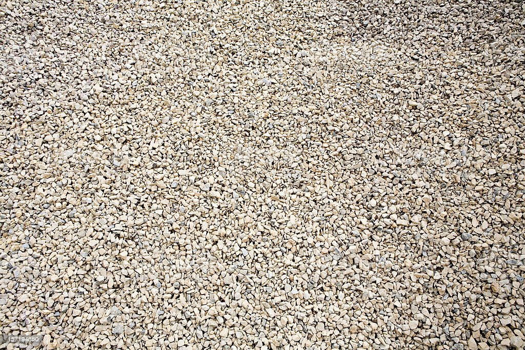 Gravel (Wide Angle View) stock photo