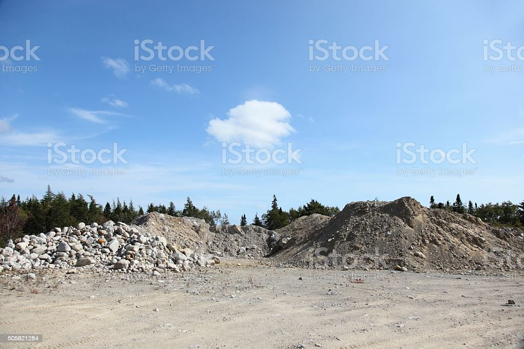 Gravel pit, construction material stock photo