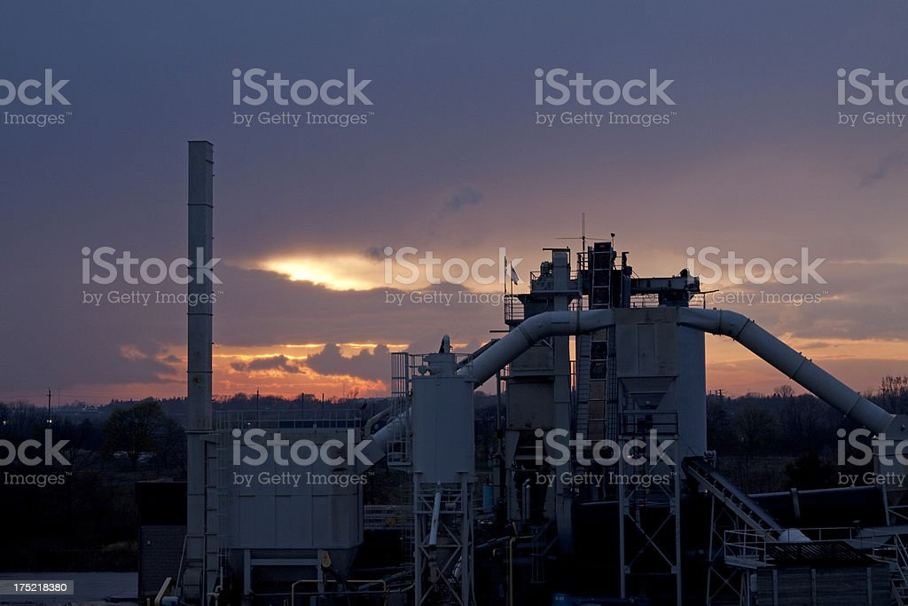 Gravel Pit Machinery royalty-free stock photo