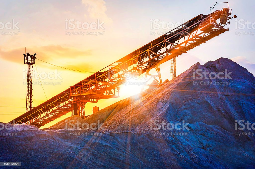 gravel pit stock photo