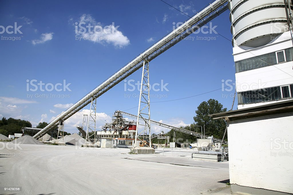 Gravel processing plant royalty-free stock photo