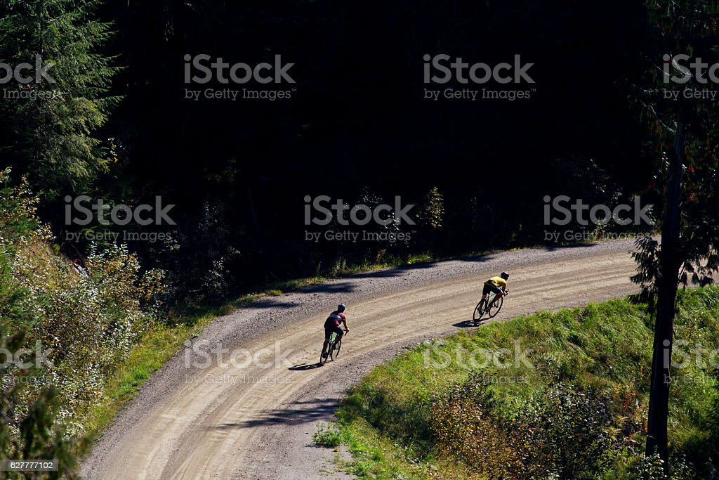 Gravel Road Bike Ride stock photo