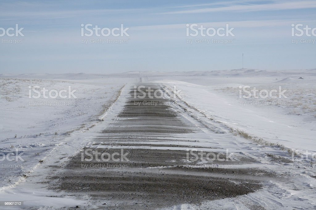 Gravel road Ground drifting royalty-free stock photo