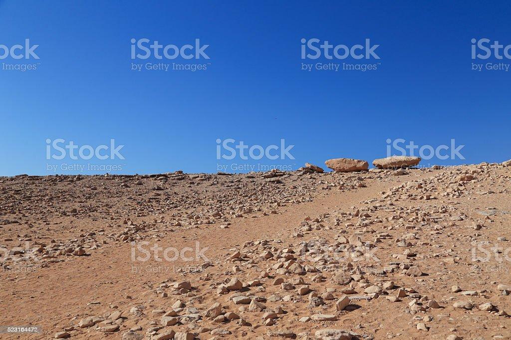 gravel road in Aswan, Egypt stock photo