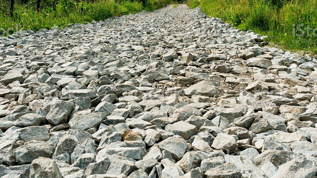 Gravilha estrada de país foto de stock royalty-free