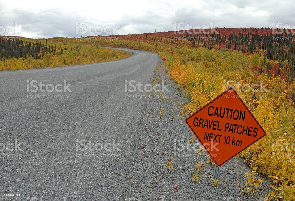 Gravel road royalty-free stock photo