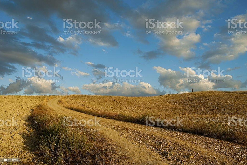 Gravel Road, Tuscany royalty-free stock photo