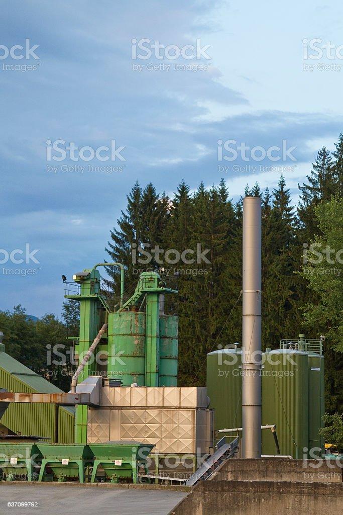 gravel stockpile in Austria stock photo