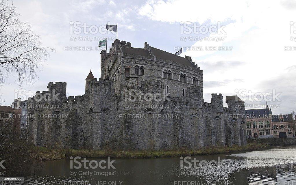 Gravensteen  castle. Ghent, Belgium stock photo