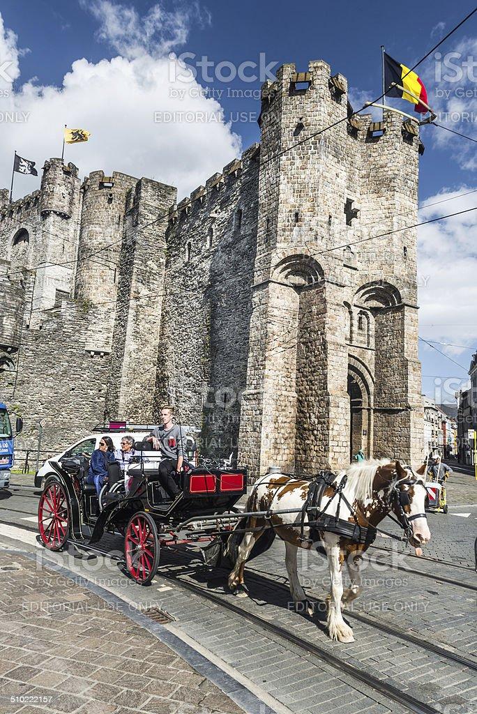 Gravensteen Castle, Ghent, Belgium stock photo