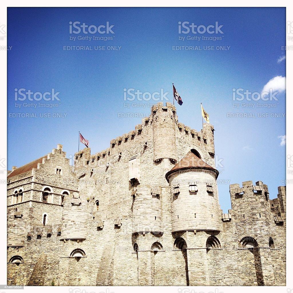 Gravensteen Castle in Ghent stock photo