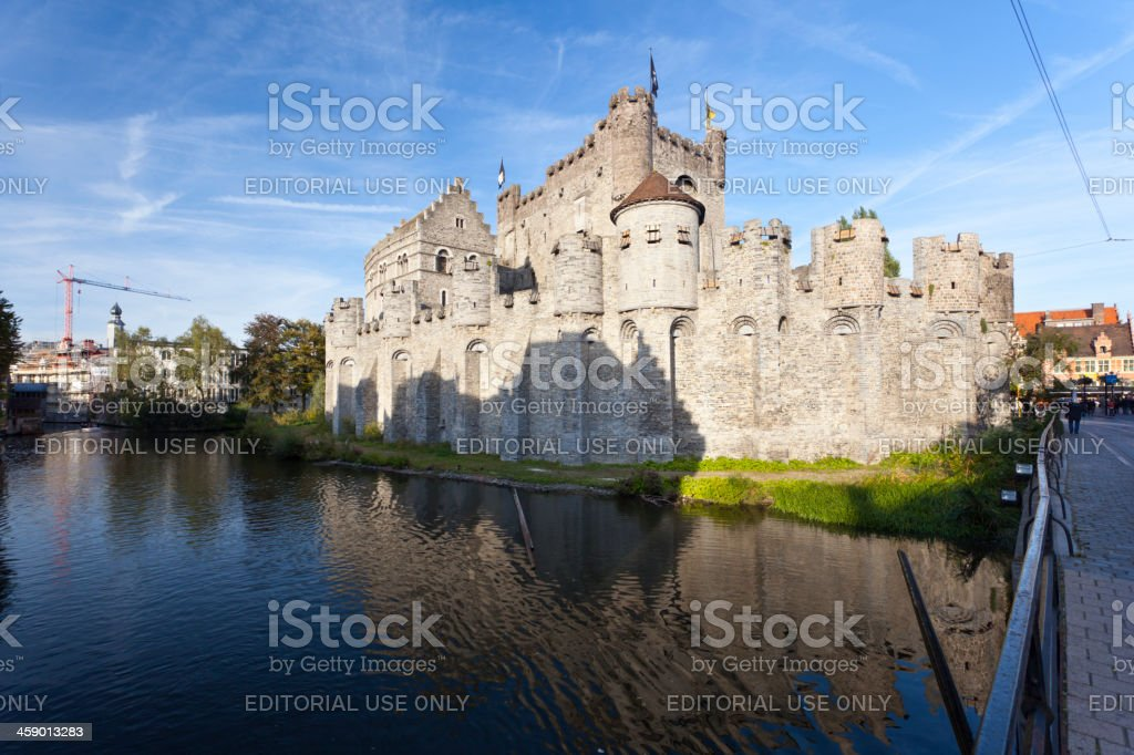 Gravensteen, Ghent royalty-free stock photo