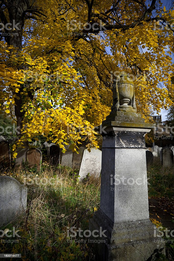 Graves & Headstones In London Cemetery stock photo