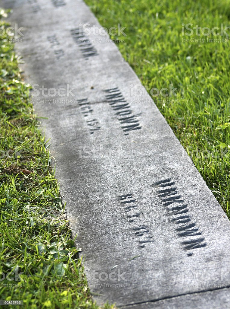 Graves of the Unknown stock photo