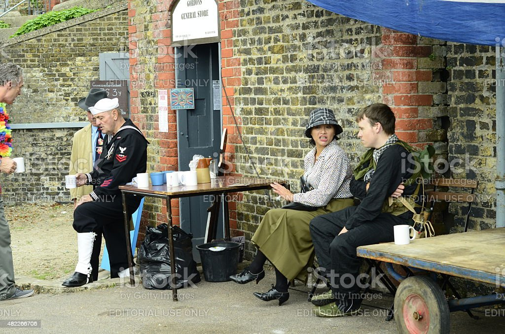 Gravesend fort in the forties stock photo