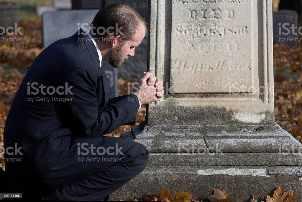 Graveside Prayer royalty-free stock photo