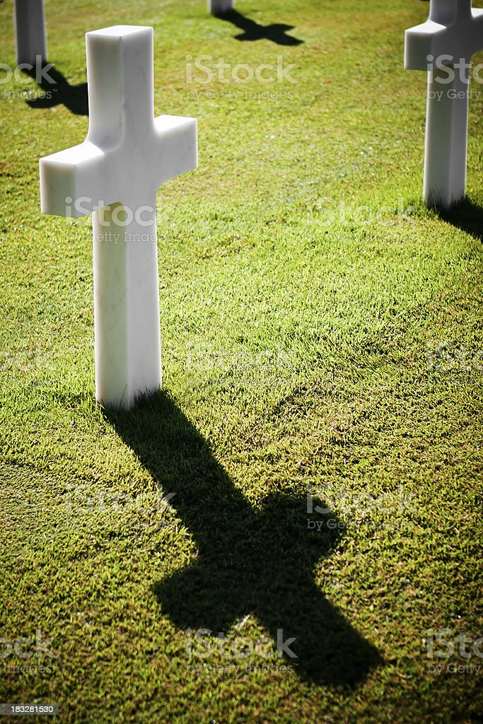 Gravestone in the American Cemetery, Florence royalty-free stock photo