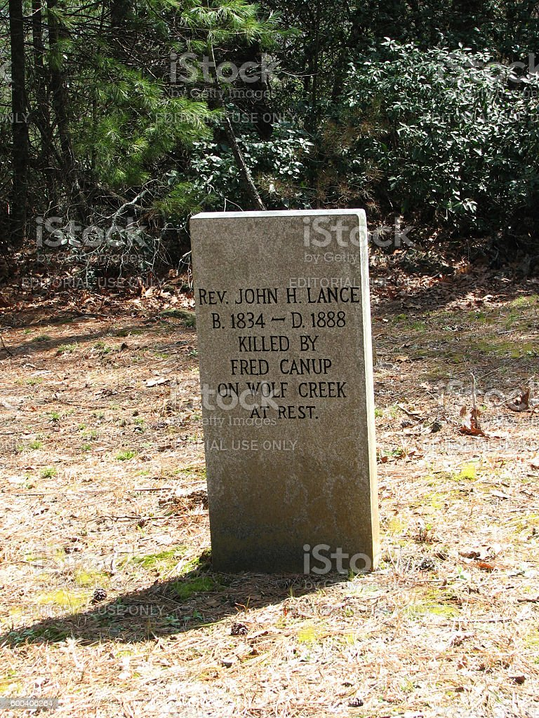 Gravestone of Reverand Lance stock photo