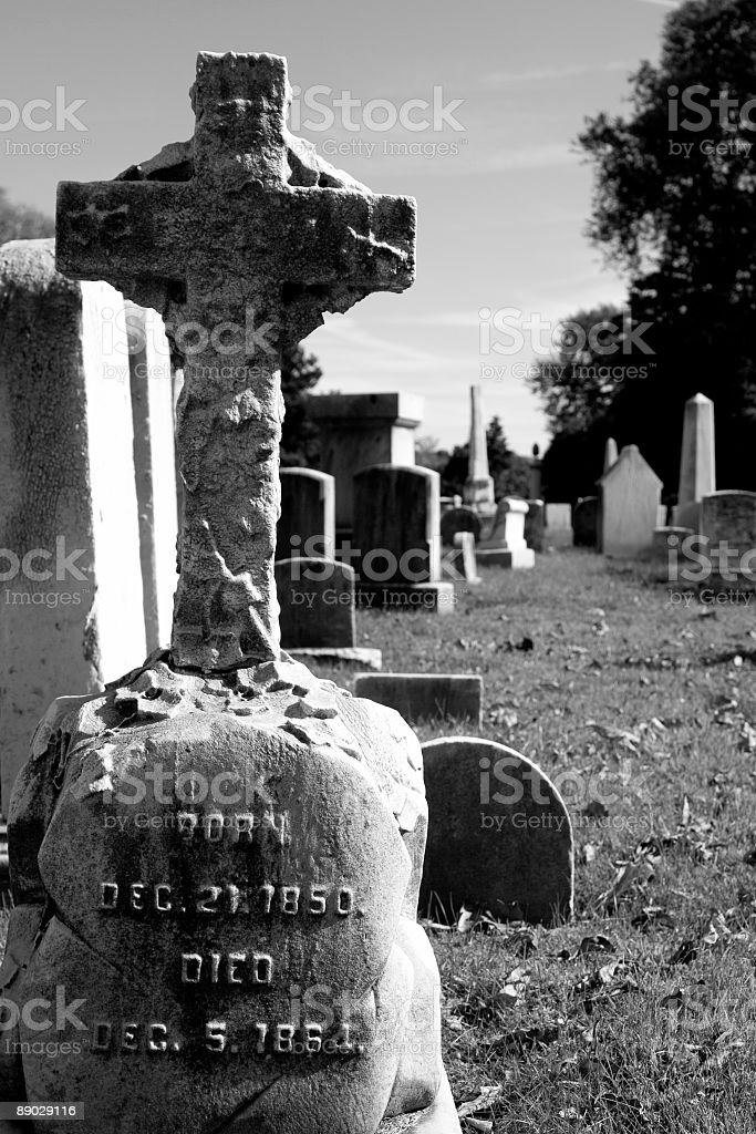 gravestone royalty-free stock photo