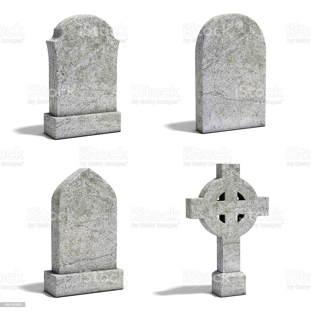 gravestone set stock photo