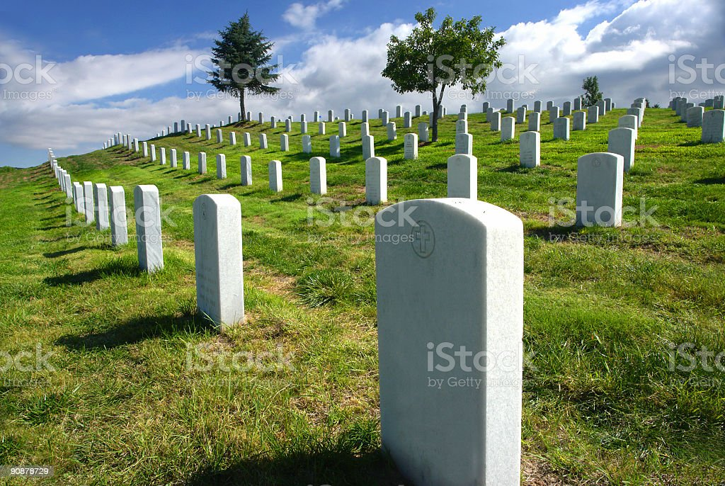gravestones royalty-free stock photo