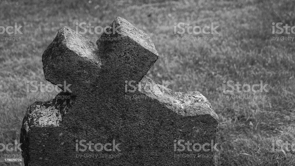 Graveyard black and withe photography royalty-free stock photo