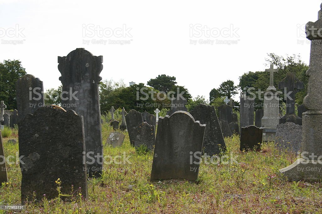 graveyard in Dublin royalty-free stock photo
