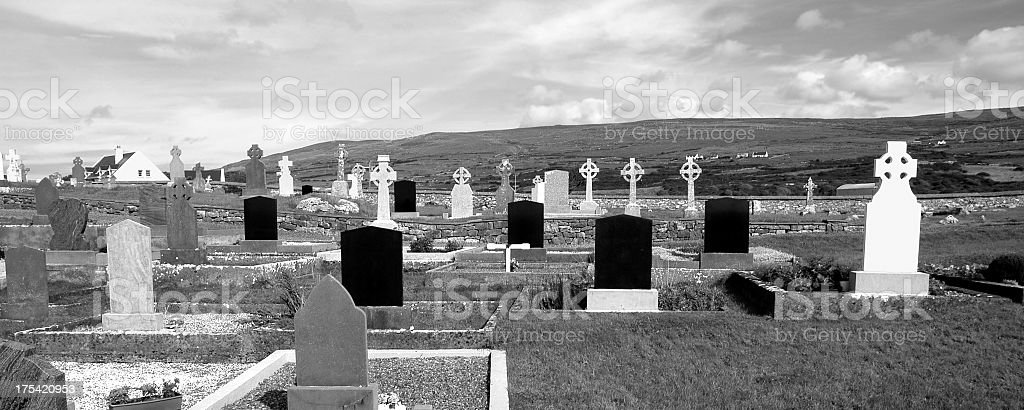 Graveyard in Ireland royalty-free stock photo