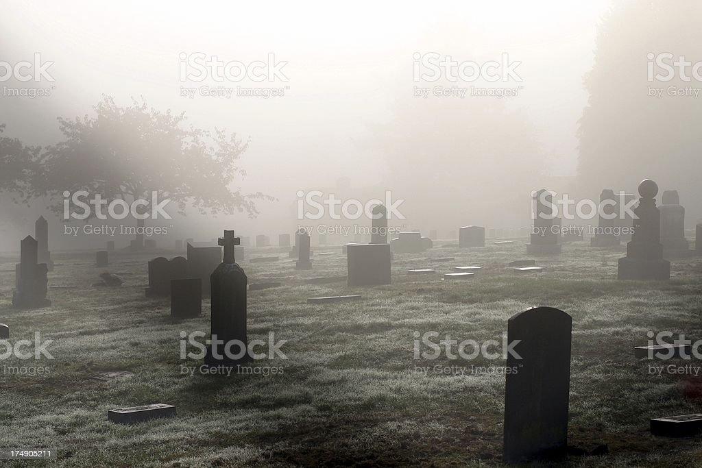 Graveyard In October stock photo