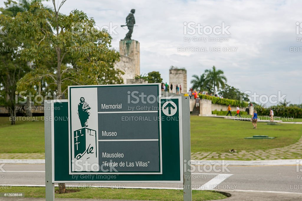 graveyard moseleum of che guevara at santa clara cuba stock photo