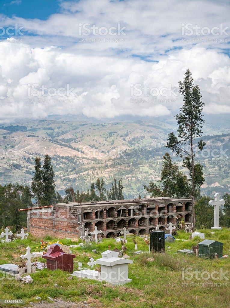 Graveyard Near Huaraz In Peru stock photo