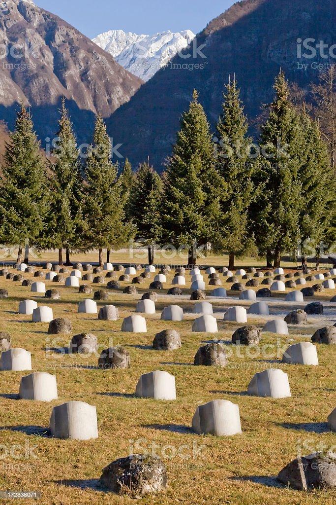 Graveyard (1st WW) stock photo