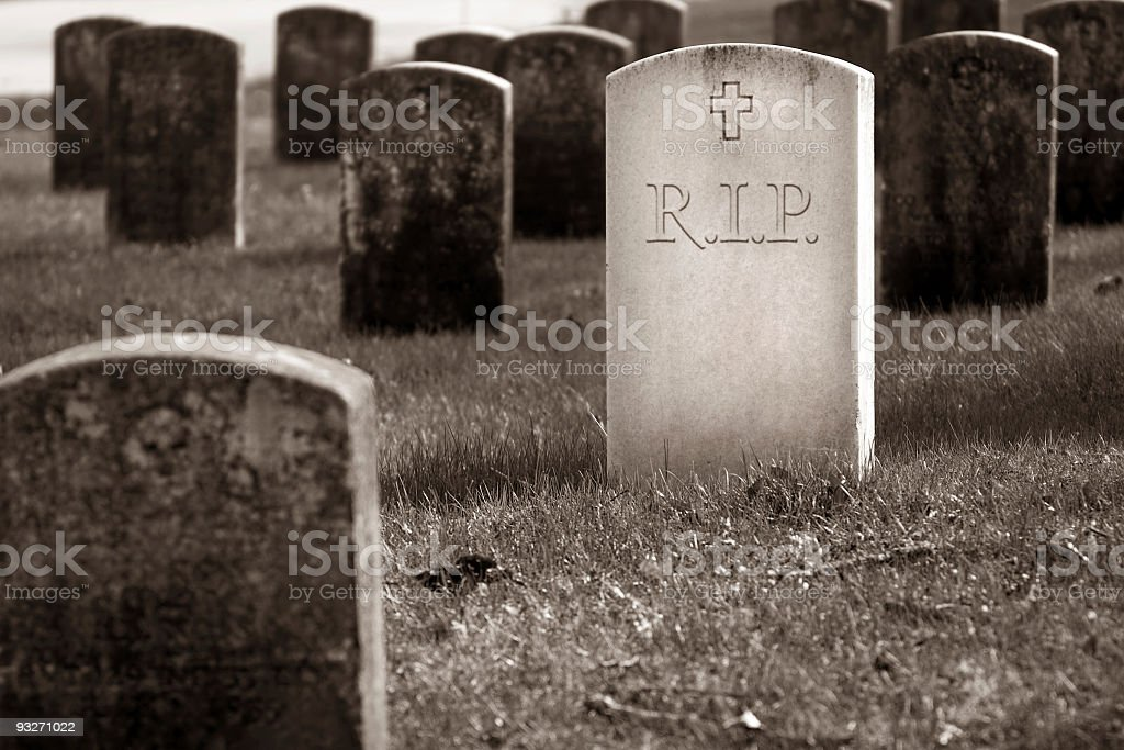 Graveyard - Rest In Peace stock photo