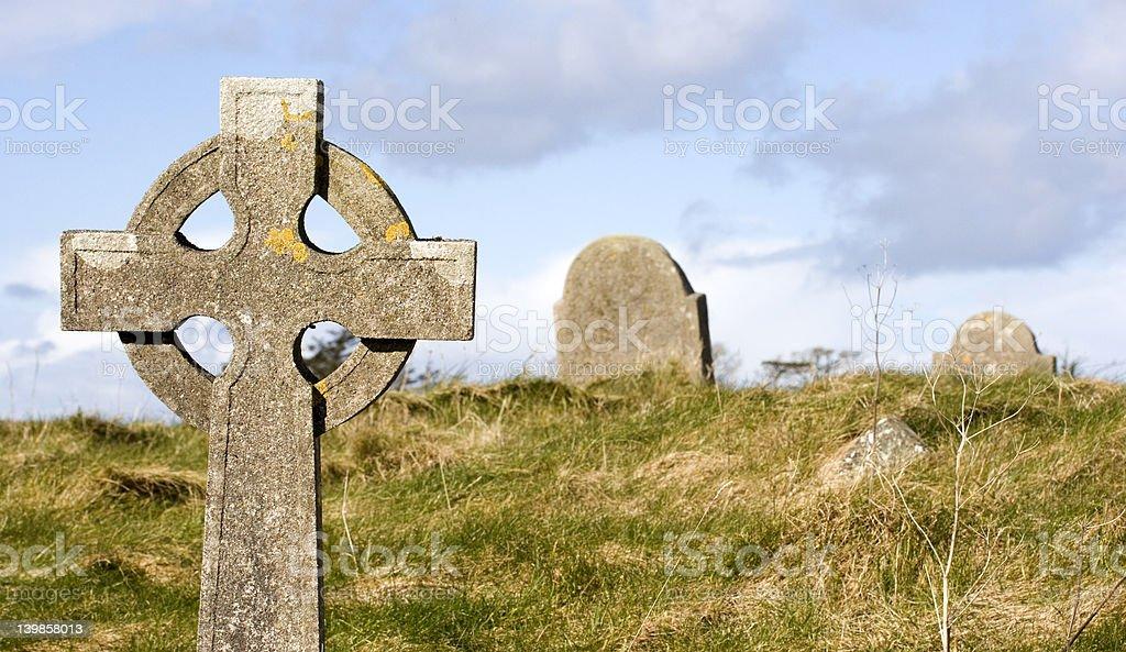 Graveyard scene royalty-free stock photo