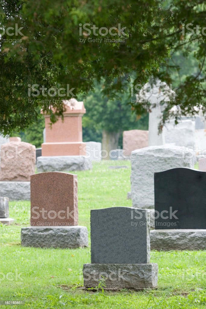Graveyard Tombstones stock photo