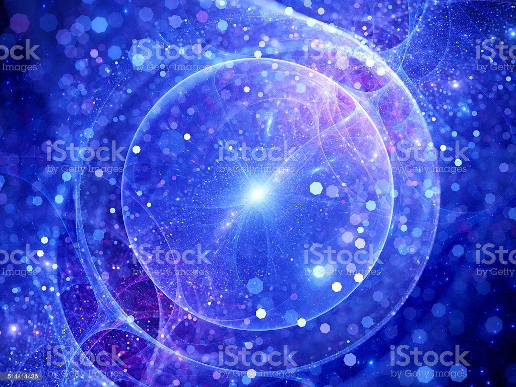 Gravitational wave source sci-fi background stock photo
