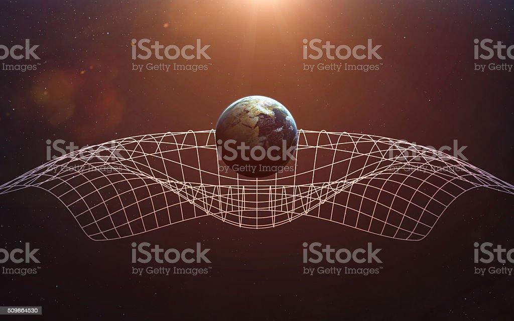 Gravitational Waves illustration. This image elements furnished by NASA stock photo