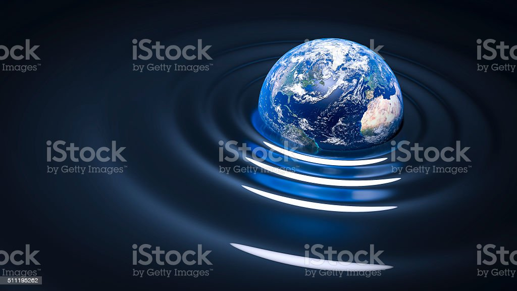 gravity wave on Earth stock photo