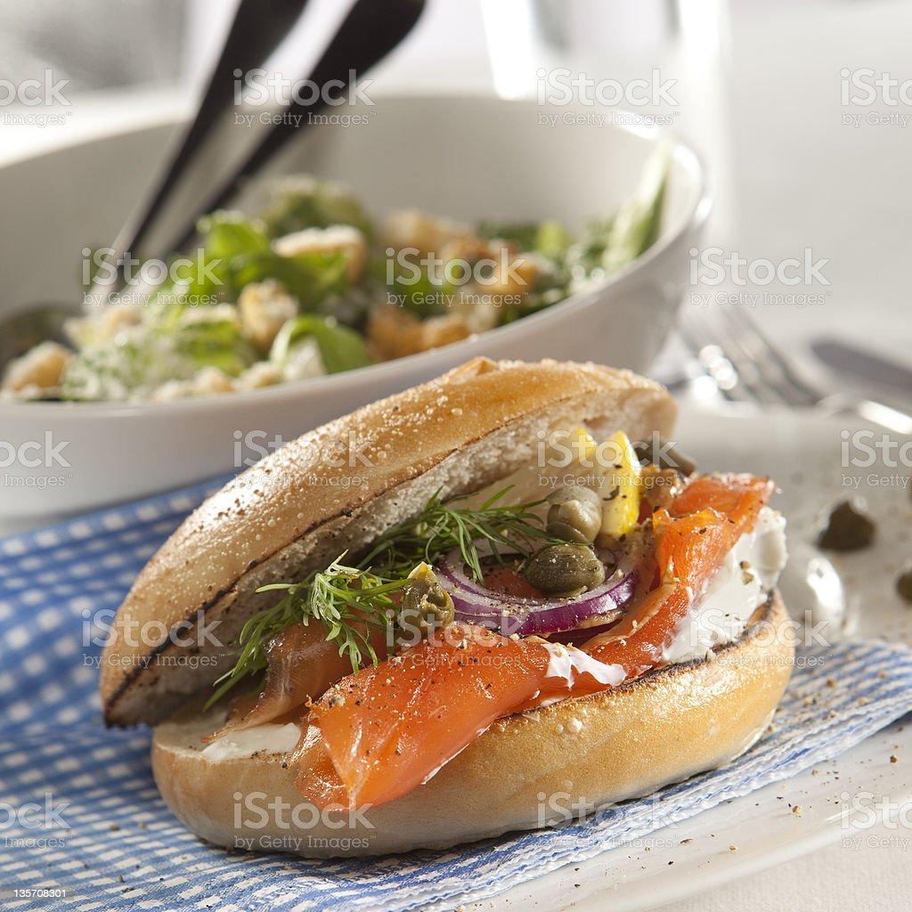 gravlax burger royalty-free stock photo
