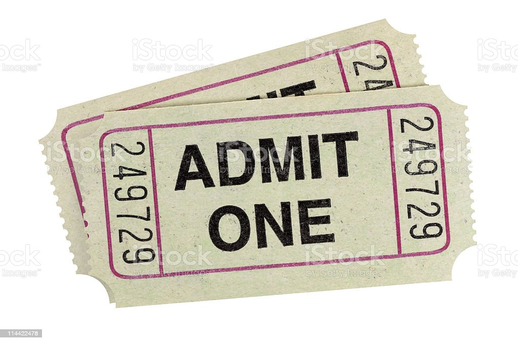 Gray admission tickets royalty-free stock photo
