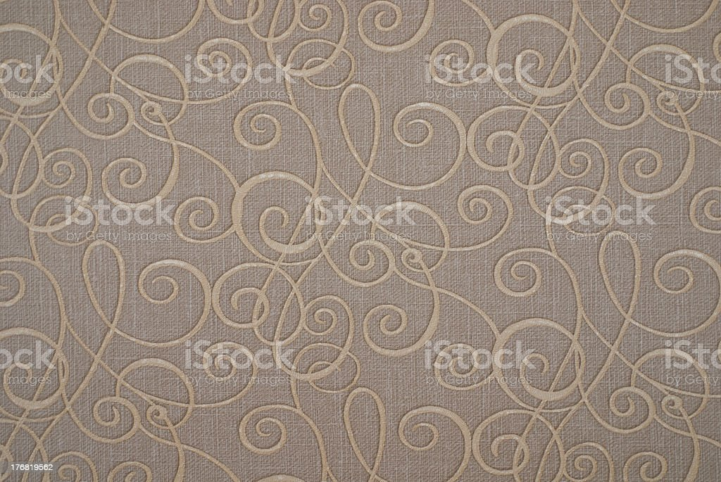 Gray and beige paper floral pattern stock photo