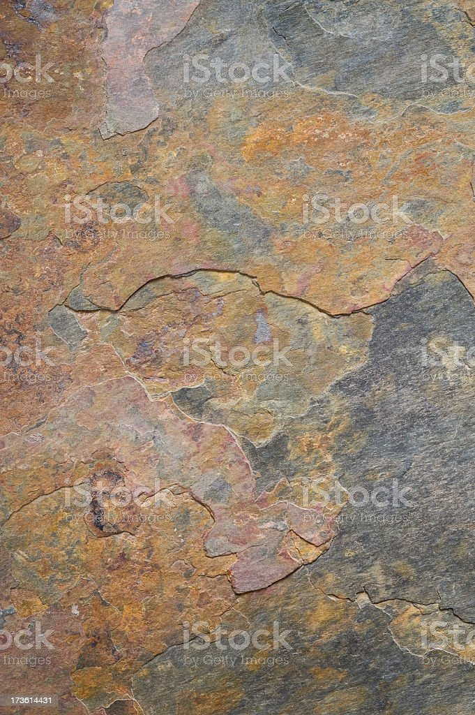 Gray and copper colored Slate stone royalty-free stock photo