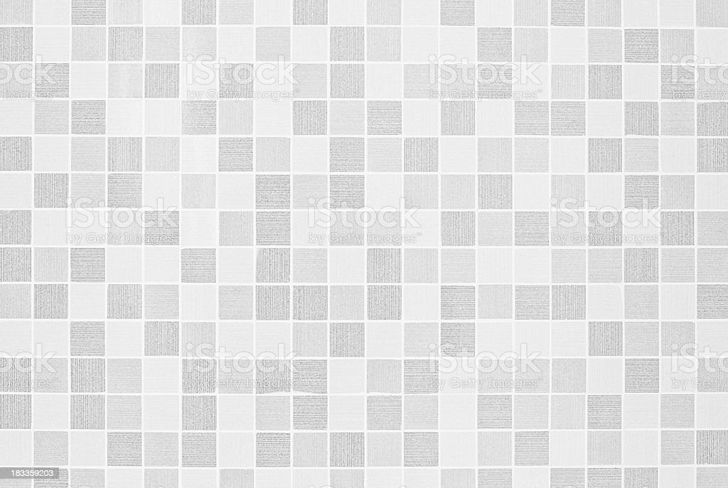 Gray and white checkered mosaic texture background stock photo
