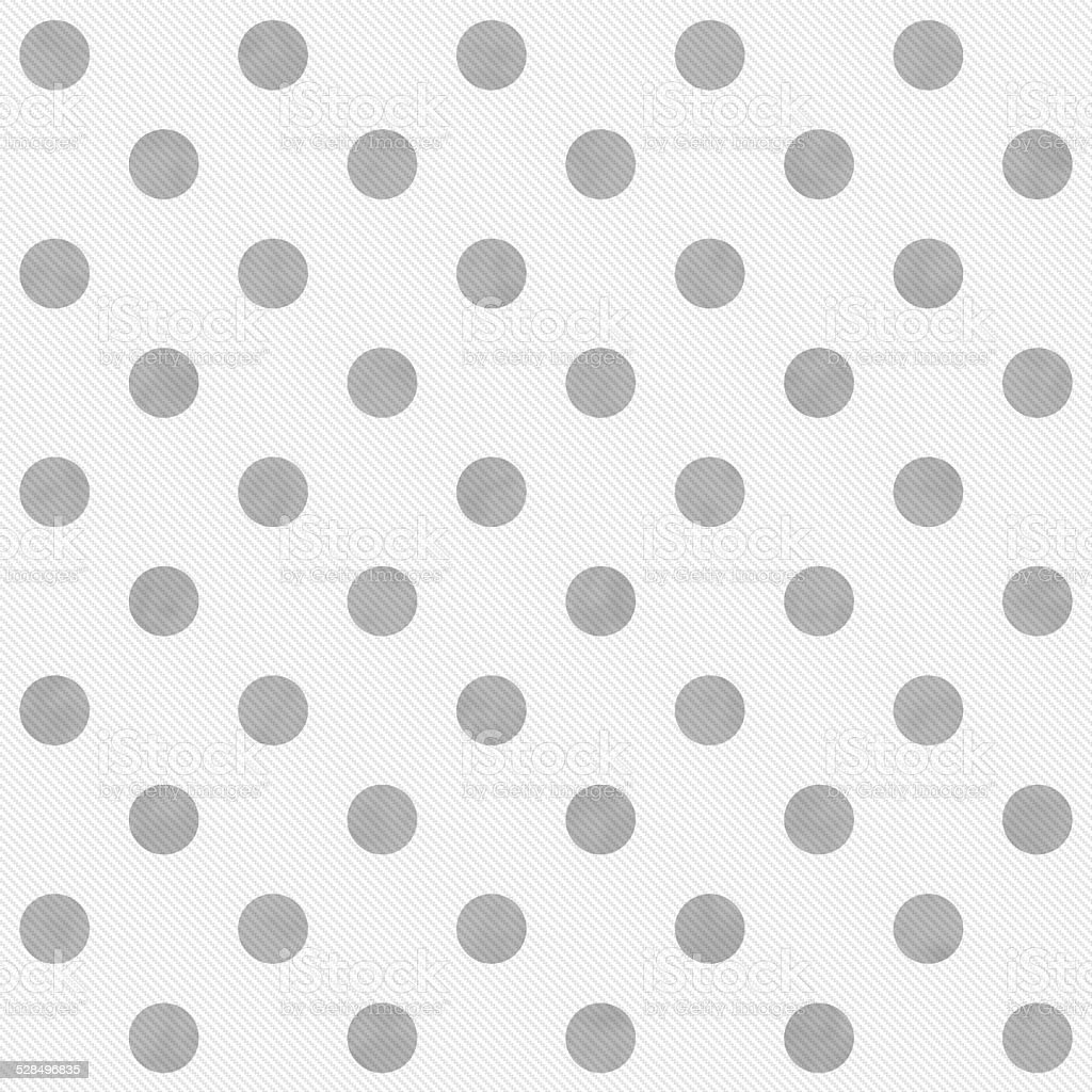 Gray and White Large Polka Dots Pattern Repeat Background stock photo